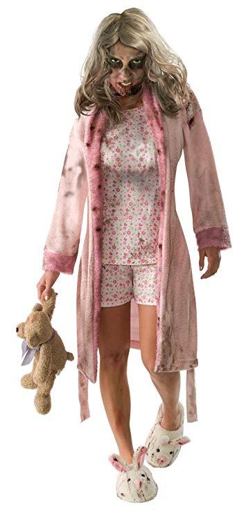 Walking dead costume teen girl zombie with teddy bear